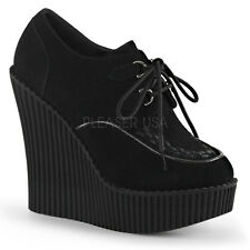 "Demonia Creeper 302 Womens 5.25"" Wedge Vegan Shoe Booties"