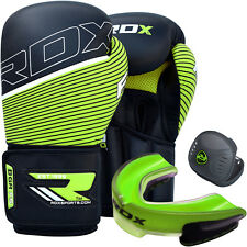 RDX Leather Boxing Gloves Boxing Training Gel Gum Shield Mouth Guard Rugby Box G