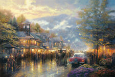 Thomas Kinkade - Mountain Memories - Art Canvas HD Print Home Wall decor