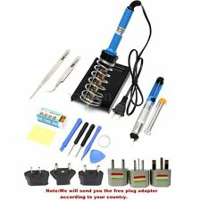 14 in1 60W 110V/220V Electric Soldering Solder Iron Stand Tool Set Desolder Pump