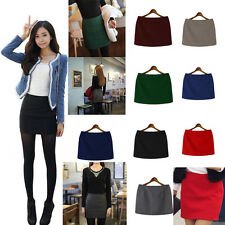 Korean Women Sexy Autumn/Winter 8 Colors Woolen High Waist Mini Bodycon Skirts