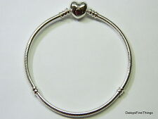 NEW! AUTHENTIC PANDORA BRACELET HEART CLASP 590719-20CM-7.9IN BOX INCLUDED