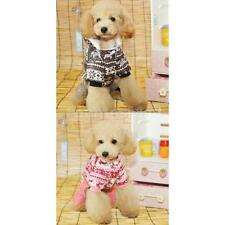 Pet Dog Puppy Christmas Hoodie Jumpsuit Clothes Clothing Apparel Coat Size XS-XL