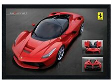 New Black Wooden Framed Ferrari LaFerrari Poster