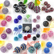 5PC 10/12mm Colors Crystal Rhinestone Disco Ball Loose Beads Jewelry DIY Gift M