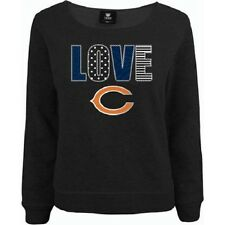 "NEW NFL Girls' Chicago Bears Long Sleeve Top  Grey ""Love C"" XL 14-16"