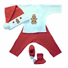 Gingerbread Girl Christmas Baby Clothing Set - Preemie & Newborn Sizes