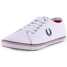Fred Perry Kingston Mens Trainers Canvas White New Shoes