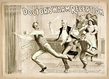 Photo Printed Old Poster Stage Drama Theatre Show M Howard Doctors Warm Receptio