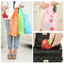 New Cute Eco Shopping Bag Strawberry Reusable Foldable Tote Bag Shopper