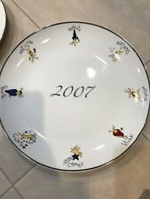 Pottery Barn Reindeer Holiday Anniversary Cookie Tray Serving Plate 2007 New