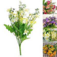 1xBouquet Artificial Flower Fake Cineraria Bunch Home Wedding Office Decorations