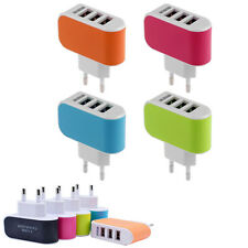 EU Plug 3.1A Triple USB Port Wall Home Travel AC Charger Adapter For Samsung HTC
