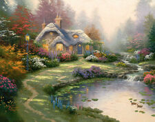 Thomas Kinkade  Everett's Cottage Art Canvas HD Giclee Print Wall decor picture