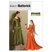 Butterick Ladies Sewing Pattern 4827 Historical Costume Medieval Dress & ...