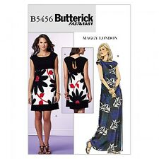 Free UK P&P - Butterick Ladies Easy Sewing Pattern 5456 Jersey Dresses (B...