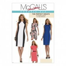 McCalls Ladies Sewing Pattern 6028 Fitted Panelled Dresses (McCalls-6028-M)