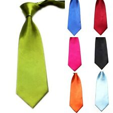Classic Solid Plain of 11 Colors Jacquard Woven Boys Men's Wedding Tie Necktie