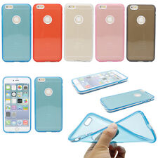 """PC Frame With Crystal Clear TPU Soft Back Case Cover For iPhone 6 Plus /6 4.7"""""""