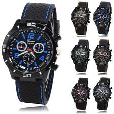 Fashion Men Watch Military Dial Watches Sport Silicone Hours Quartz Wristwatches