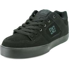 DC Shoes Pure Men  Round Toe Leather Black Skate Shoe