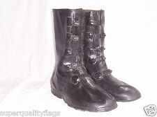 New Mens Heavy Duty 5 Buckle Rubber Boots Galoshes (overshoes) Made in USA