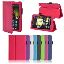 Slim Shell Leather Folio Stand Case Cover For Amazon Kindle Fire HDX 7 Inch New