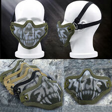 Airsoft Half Face Steel Mesh Mask Outdoor Tactical Protect Paintball Protecting