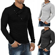 Stylish  Men's  Tops Slim Fit Casual Fashion T-shirts Polo Shirt Long Sleeve Tee