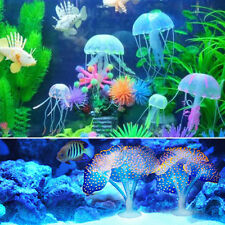 Glowing Effect Artificial Jellyfish Coral Fish Tank Aquarium Ornament Decoration