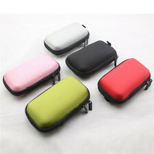 5 Color Hard Carry Storage Case Coin Pouch Bag For Earphones Headphones Headsets