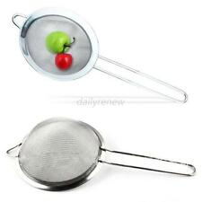 Wire Fine Mesh Stainless Steel Skimmer Food Oil Pot Strainer Flour Sifter D71