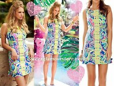 $198 Lilly Pulitzer Delia Multi Toucan Play Print Lace Front Shift Dress