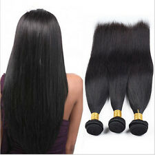 Straight Unprocessed Virgin Brazilian Human Hair Extensions 3 Bundles 150g Total