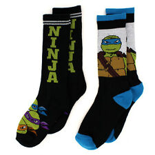 Nickelodeon TMNT Ninja Turtles Boys 2 pk Crew Socks 4145QD