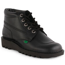 Kickers Kick Hi Mens Leather Black Black  Ankle Boots New Shoes All Sizes