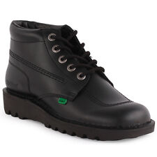 Kickers Kick Hi Mens Leather Black Ankle Boots New Shoes All Sizes