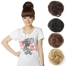 New Style Hair Extension Pony Tail Women Clip In On Hair Bun Hairpiece Scrunchie