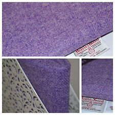Harris Tweed Fabric & Labels LILAC LAVENDER PURPLE  craft upholstery tailoring