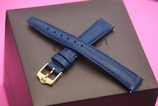 New Gucci 14 MM Dark Blue Lizard Pattern on Genuine Leather Watch Band