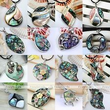 Fashion Abalone MOP Shell Drop Round Charm Pendant Bead For Jewelry Necklace DIY