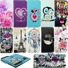 Flip Stand Book Style Hold PU Leather Card Wallet Cover Case For Multiple Models