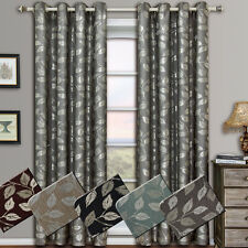 "Charlotte Grommet Jacquard Window Curtains Drapes 104 "" x 84 "" Set of 2 Panels"