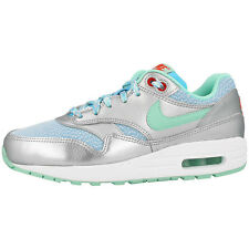 NIKE AIR MAX 1 GS SHOES TRAINERS SILVER BLUE GREEN 653653-401 LTD BW CLASSIC 90