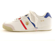 K-Swiss Trainers SI-16 white Lace up Leather Logo Rubber sole