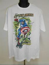 NEW Captain America Comic Logo T-SHIRT by MARVEL MENS Sizes XL-2XL