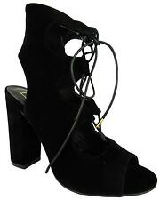 Truffle Collection Women's Ankle Strap Suedette High Heel Open Toe Shoes New