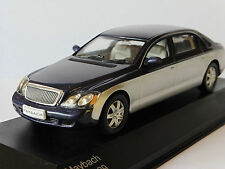 MAYBACH 62 2009 DARK BLUE SILVER WHITEBOX WB110 1/43 LIMITED EDITION 1000 PIECES