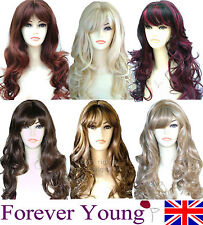 Wig Natural Curly Wavy Fashion Full Wig Womens Ladies Hair Forever Young Wigs UK