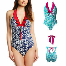 Pour Moi 7107 Aloha Halter Swimsuit Swimming Costume Non Wired Padded Cups